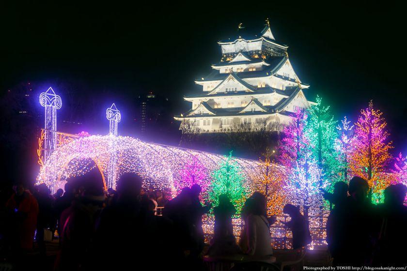 大阪城 イルミネーション 2013 光の回廊 04