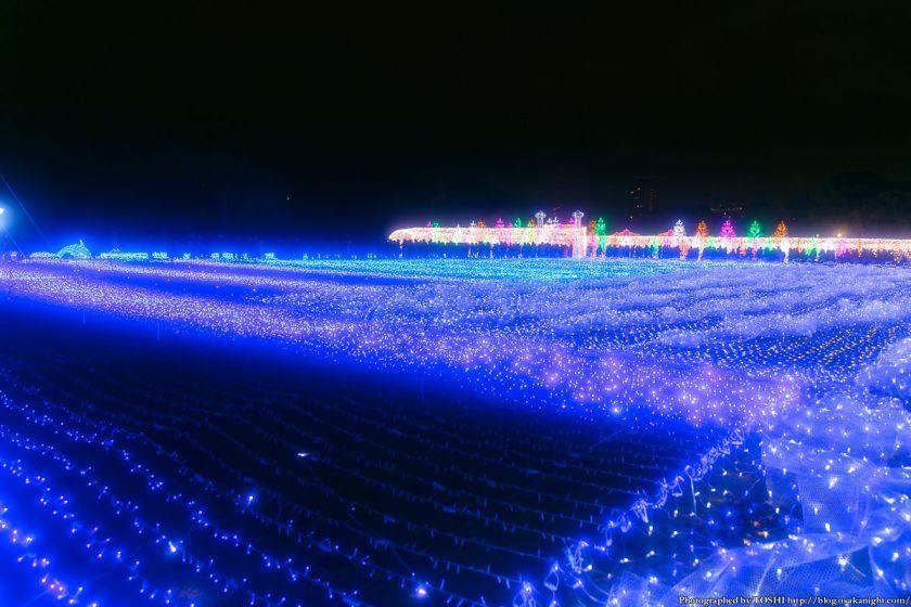 大阪城 イルミネーション 2013 光のビッグブルー