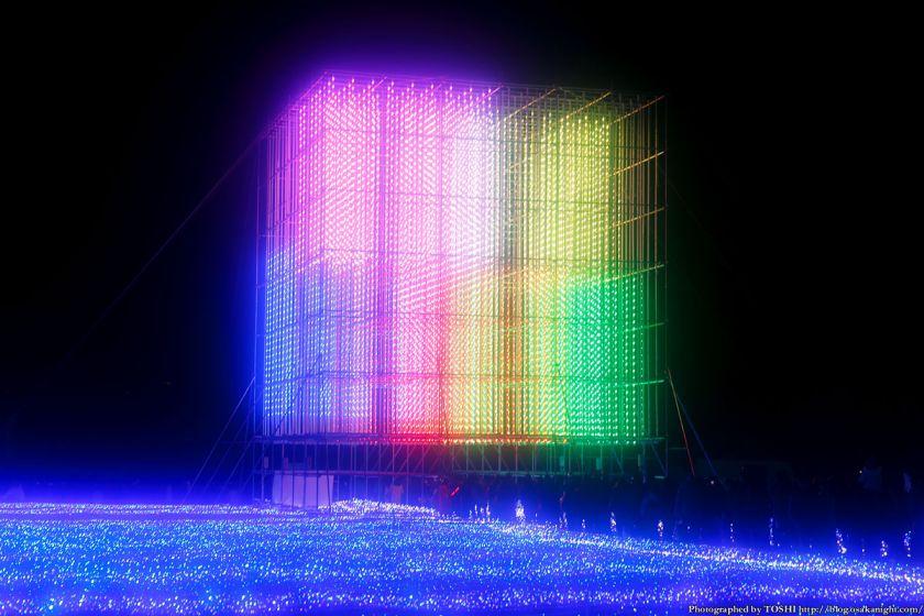 大阪城 イルミネーション 2013 光のキューブ