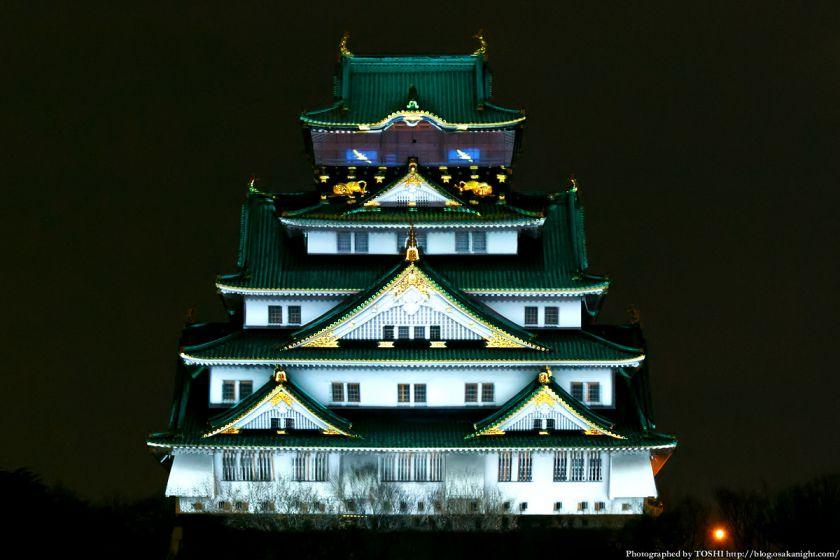 大阪城 3Dマッピング スーパーイルミネーション 2013 01