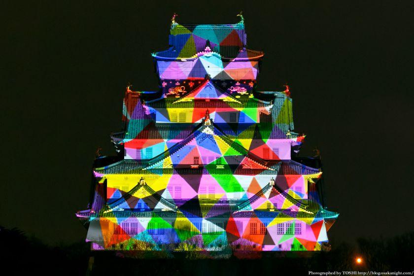 大阪城 3Dマッピング スーパーイルミネーション 2013 02