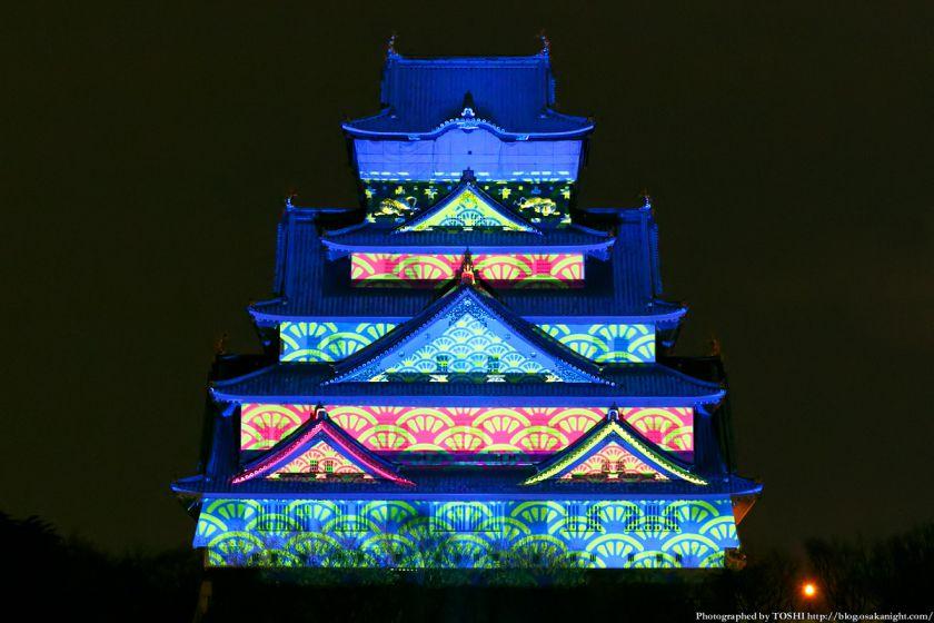 大阪城 3Dマッピング スーパーイルミネーション 2013 03