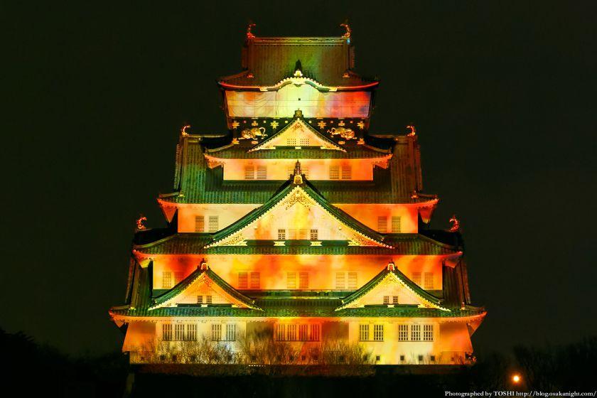 大阪城 3Dマッピング スーパーイルミネーション 2013 04