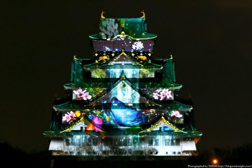 大阪城 3Dマッピング スーパーイルミネーション 2013 06