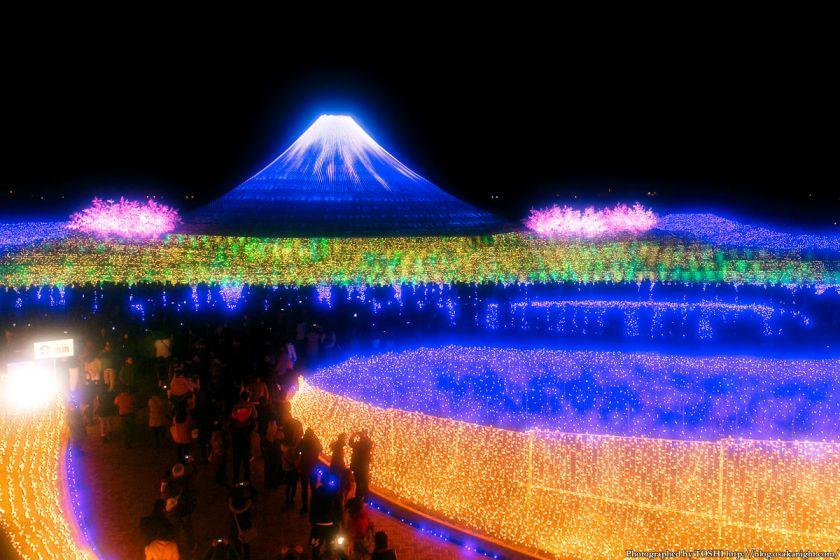 なばなの里 ウィンターイルミネーション 2013-2014 祝・世界遺産 富士 01