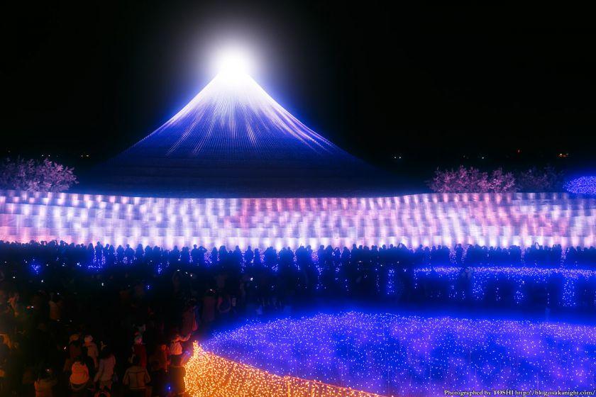 なばなの里 ウィンターイルミネーション 2013-2014 祝・世界遺産 富士 03