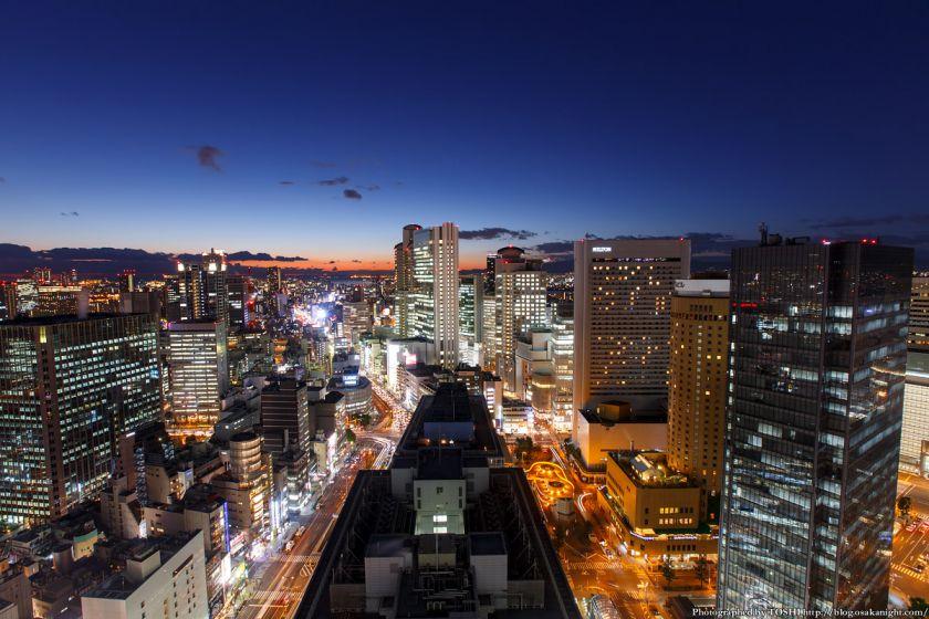 大阪駅前第3ビル 夕景 2014年1月 01