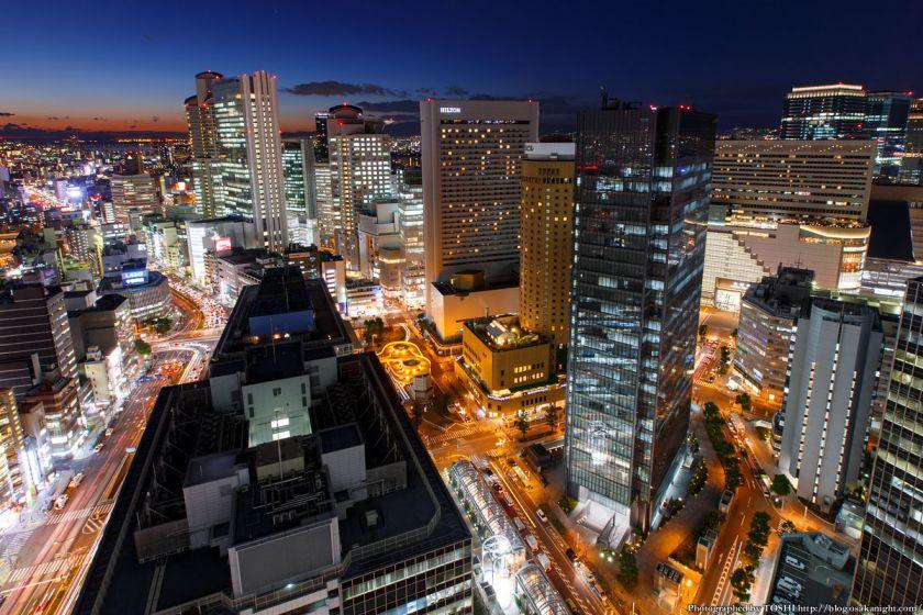 大阪駅前第3ビル 夕景 2014年1月 02