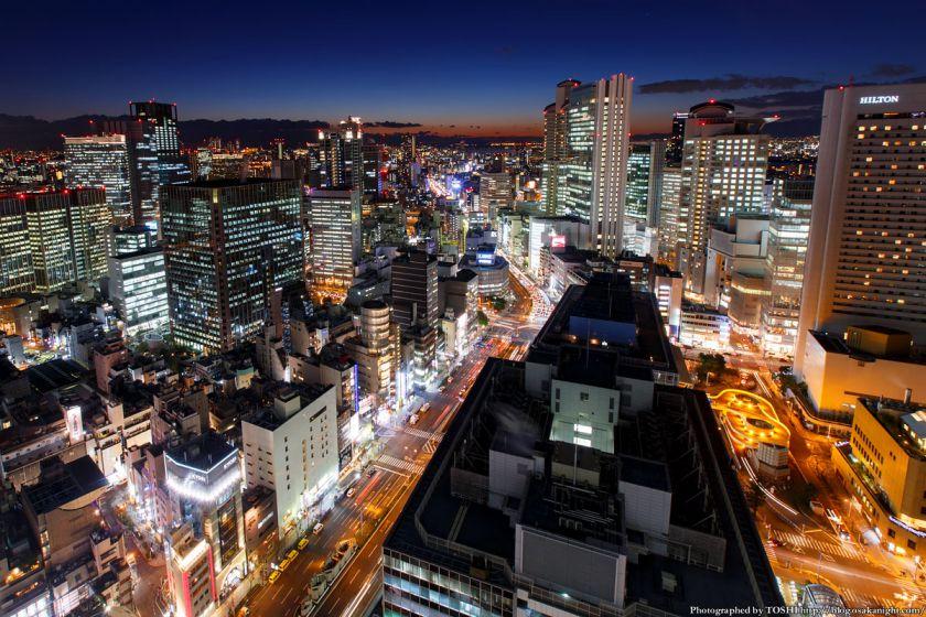 大阪駅前第3ビル 夕景 2014年1月 03