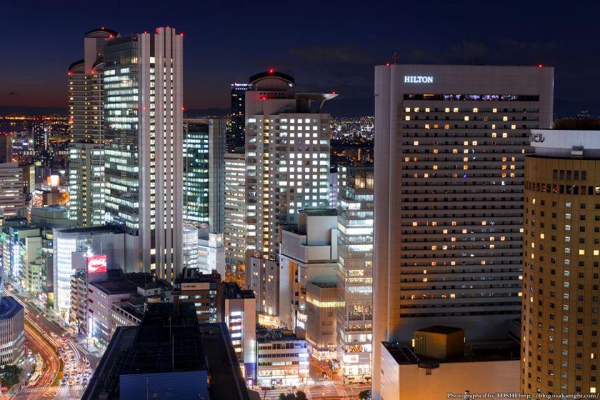 大阪駅前第3ビル 西梅田の高層ビル群 夜景 2014年1月
