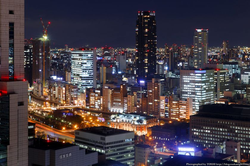 大阪駅前第3ビル 大阪市中央公会堂〜北浜 夜景 2014年1月