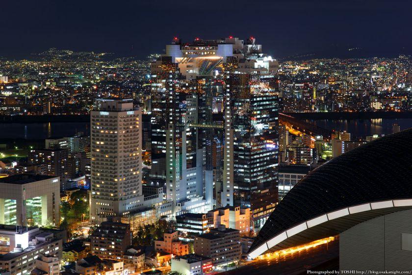 ブリーゼタワーからの夜景 梅田スカイビル 2014年1月