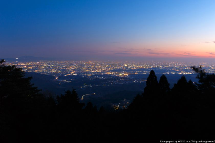 竜王山展望台からの夕景