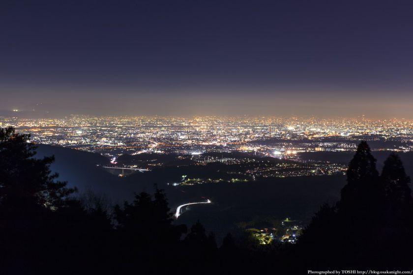 竜王山展望台からの夜景