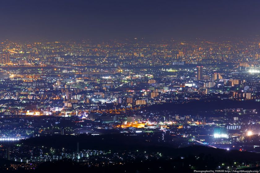 竜王山展望台 茨木市街 夜景