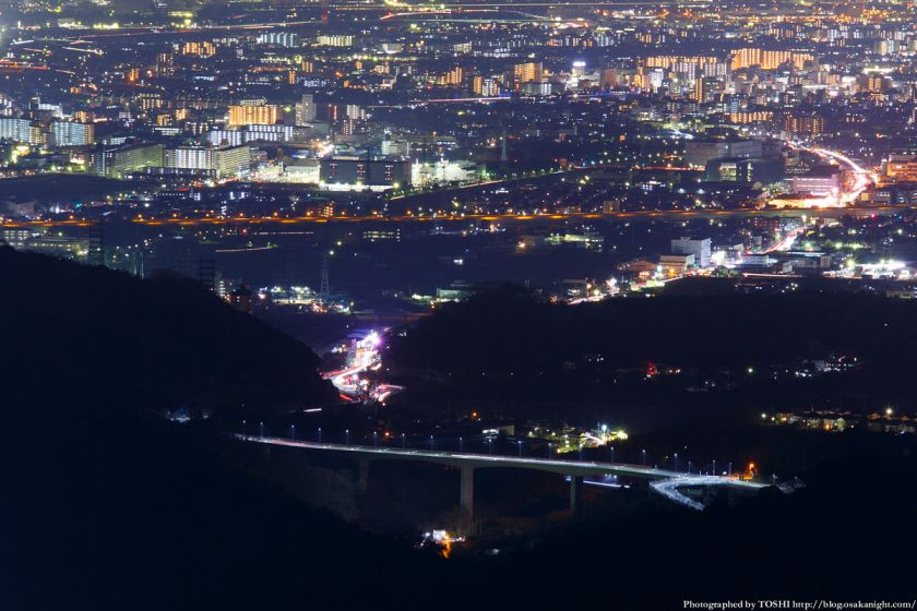 竜王山展望台 府道46号 桑原大橋 夜景