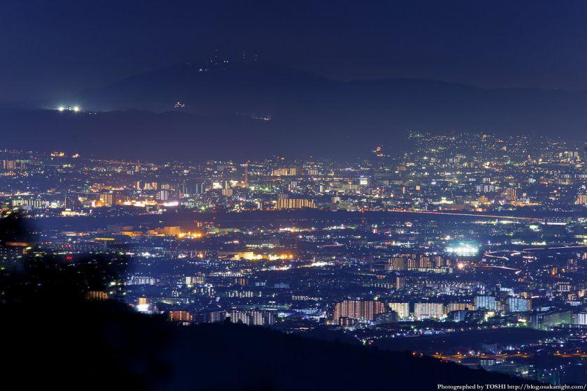 竜王山展望台 生駒山方面 夜景