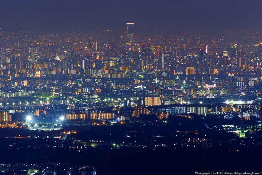 竜王山展望台 あべのハルカス 夜景