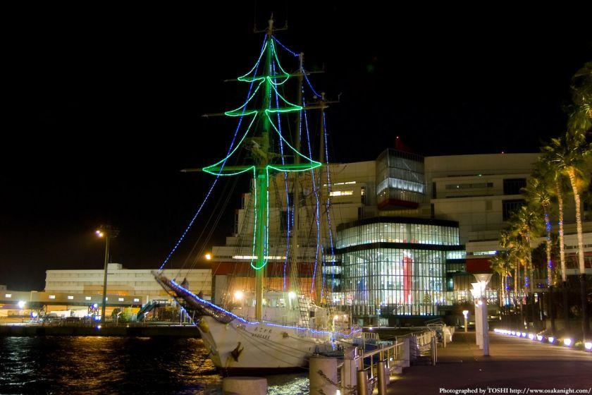 帆船「あこがれ」のイルミネーション 2009