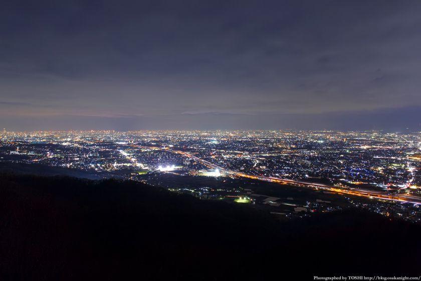 交野山 観音岩からの夜景 大阪方面