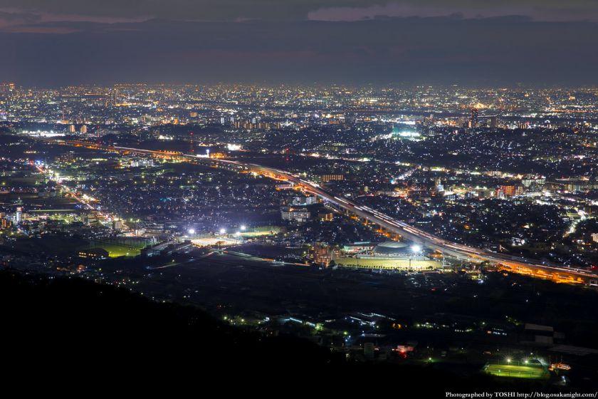 交野山 観音岩からの夜景 交野市街