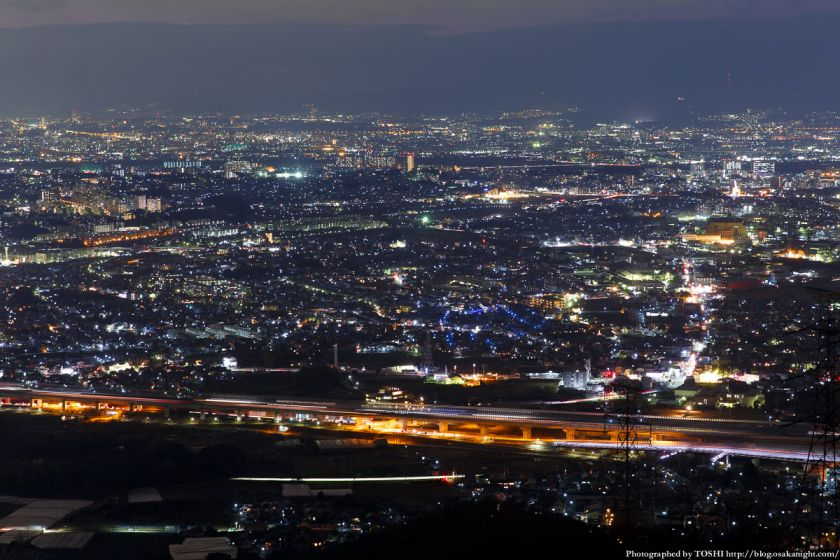 交野山 観音岩からの夜景 枚方方面 01
