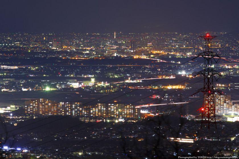 交野山 観音岩からの夜景 京都方面