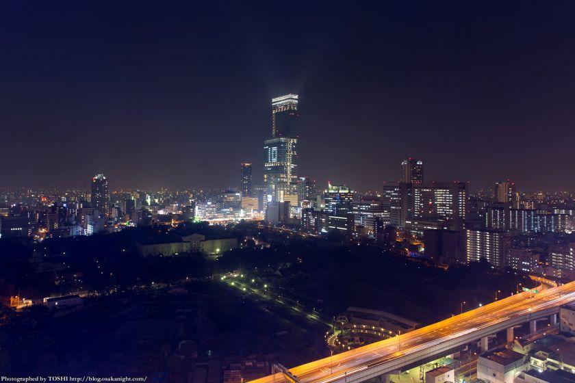 通天閣から見た天王寺・阿倍野周辺の夜景 2014年2月