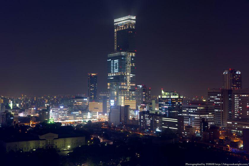 あべのハルカス ライトアップ夜景 2014年2月 01