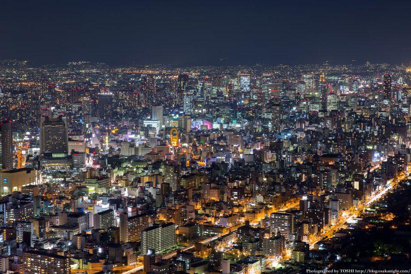 あべのハルカス展望台 ハルカス300からの夜景 大阪市中心部