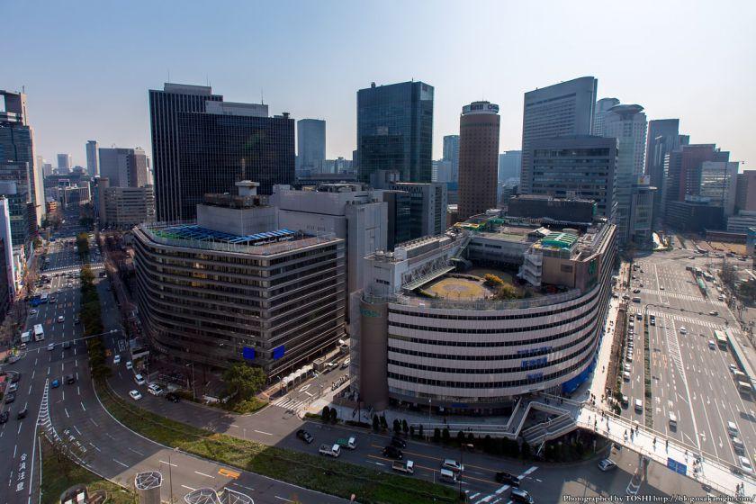 大阪駅前俯瞰 梅田1丁目1番地計画 2014年3月