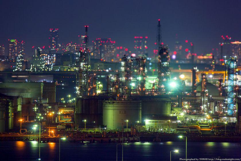 堺泉北臨海工業地帯 from 泉大津PA 2014年10月