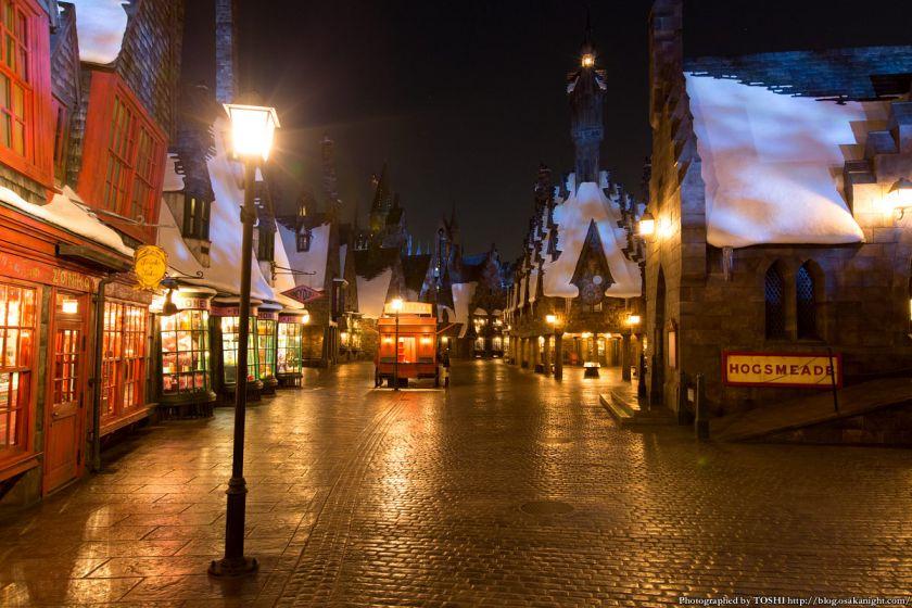 USJ ウィザーディング・ワールド・オブ・ハリー・ポッター ホグズミード村 夜景
