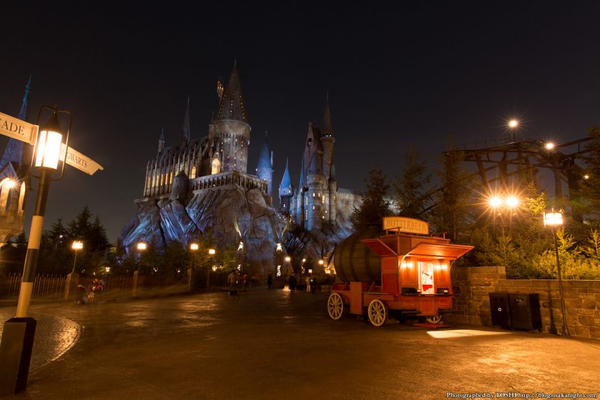USJ ウィザーディング・ワールド・オブ・ハリー・ポッター ホグワーツ城 夜景 01