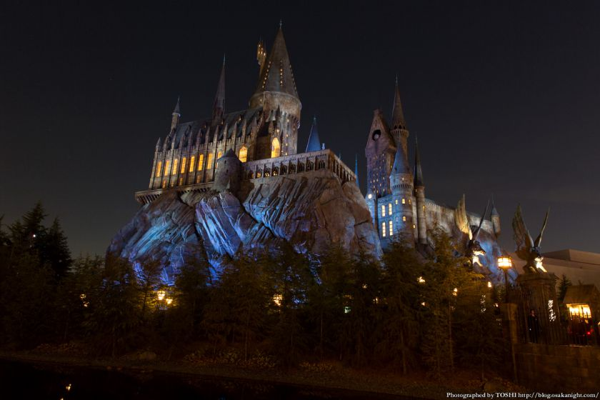 USJ ウィザーディング・ワールド・オブ・ハリー・ポッター ホグワーツ城 夜景 02