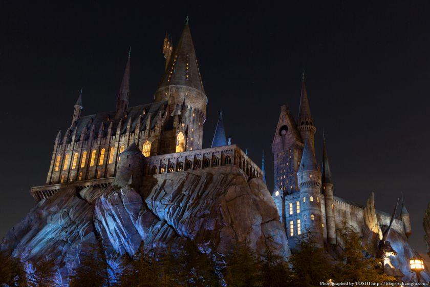 USJ ウィザーディング・ワールド・オブ・ハリー・ポッター ホグワーツ城 夜景 03