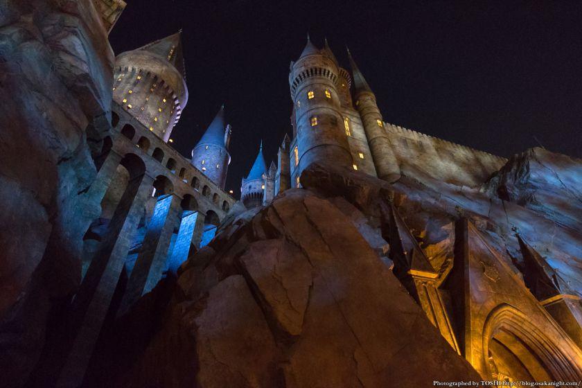 USJ ウィザーディング・ワールド・オブ・ハリー・ポッター ホグワーツ城 夜景 04