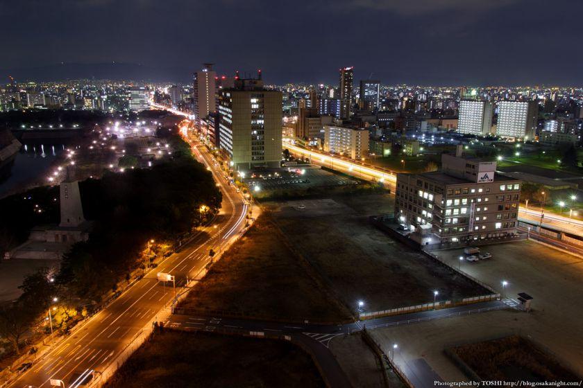 難波宮跡公園 北部ブロック 夜景