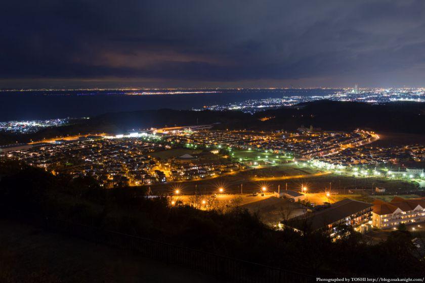 阪南スカイタウン 展望緑地 夜景 03 桃の木台周辺の街並み