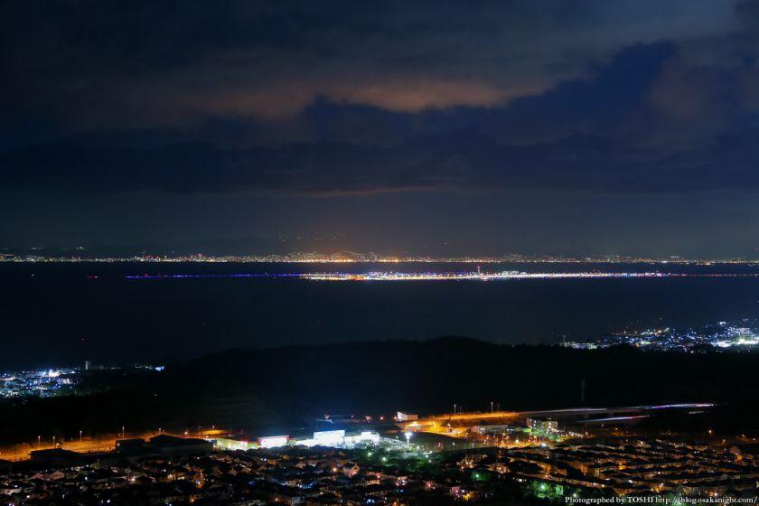 阪南スカイタウン 展望緑地 夜景 06 関西国際空港