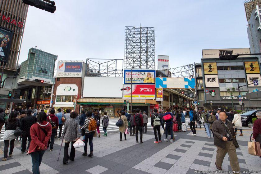 精華小学校跡地 2015年4月 03 南海難波駅前