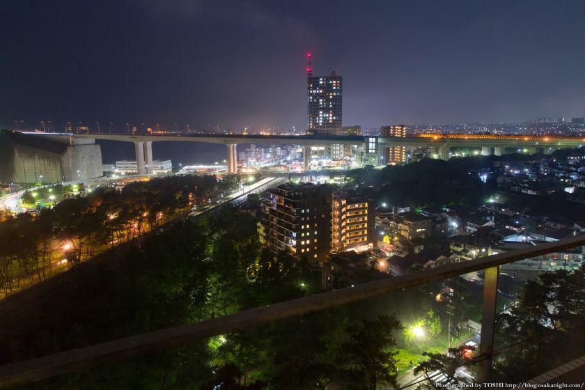 シーサイドホテル舞子ビラ神戸 舞子駅方面 夜景
