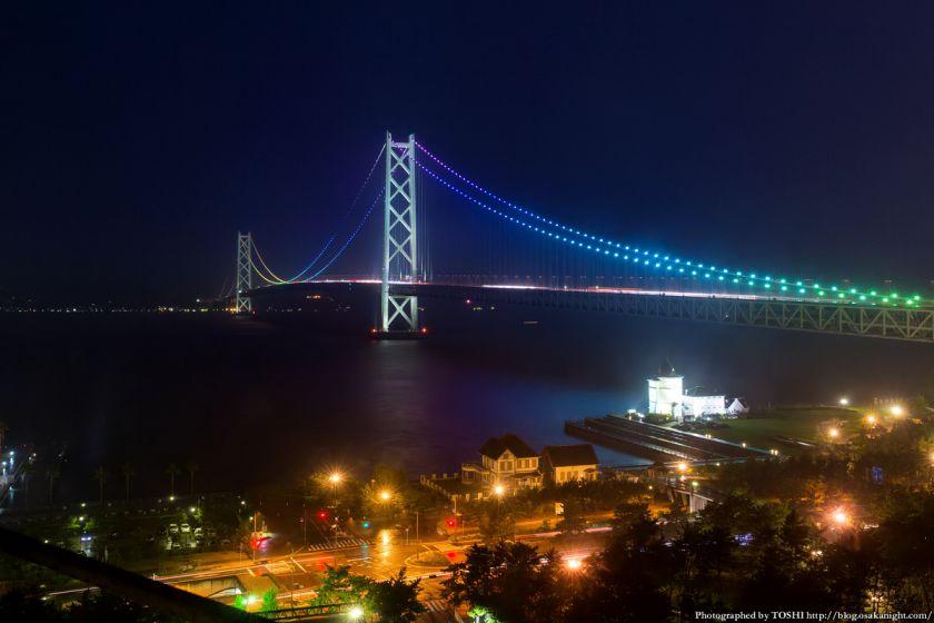 シーサイドホテル舞子ビラ神戸 明石海峡大橋 夜景 (虹ライトアップ) 01