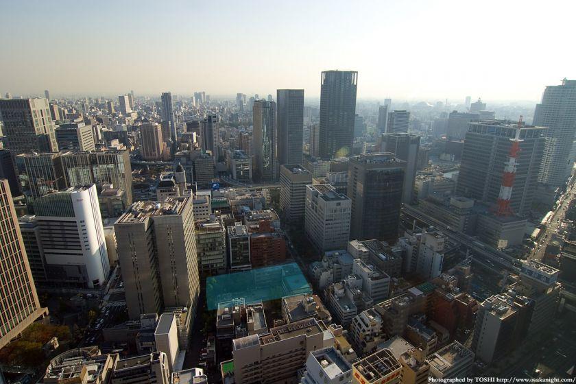 堂島小学校跡地の俯瞰写真(ブリーゼタワーより)