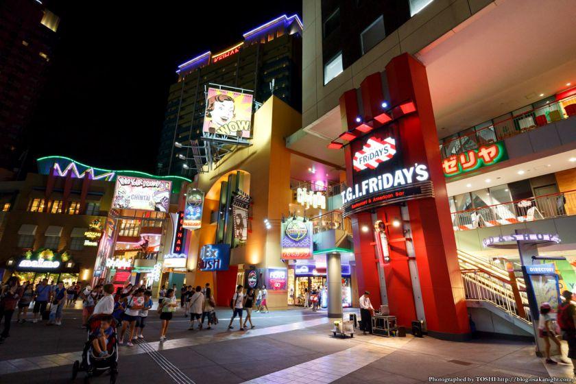 ユニバーサル・シティウォーク大阪 夜景 2015年7月 01