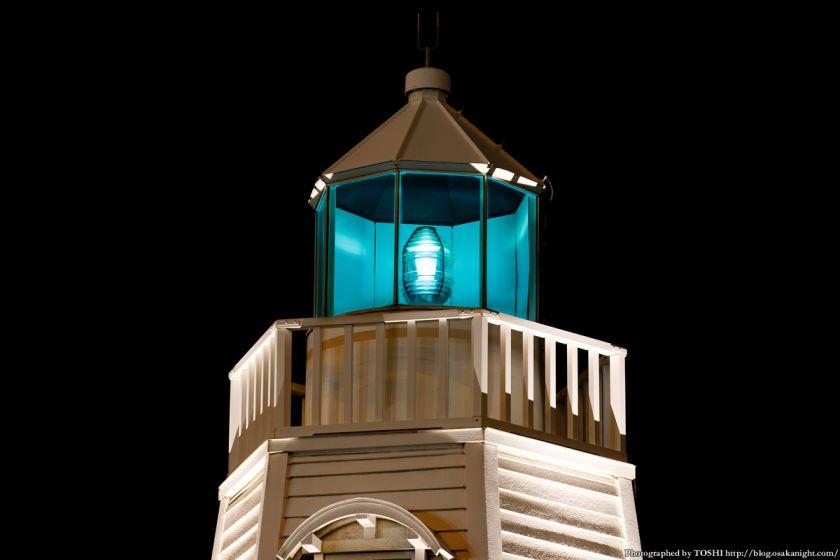 旧堺燈台 ライトアップ 夜景 03
