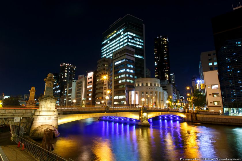 難波橋 夜景 2015年9月