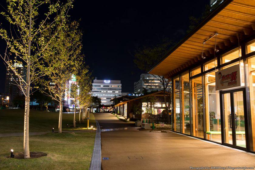 天王寺公園 てんしば 夜景 2015年10月 05 キャプテン翼サッカースクール