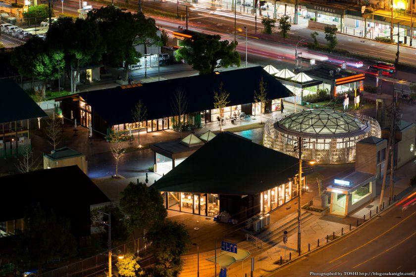 天王寺公園 てんしば 夜景 2015年10月 09 ゲート俯瞰