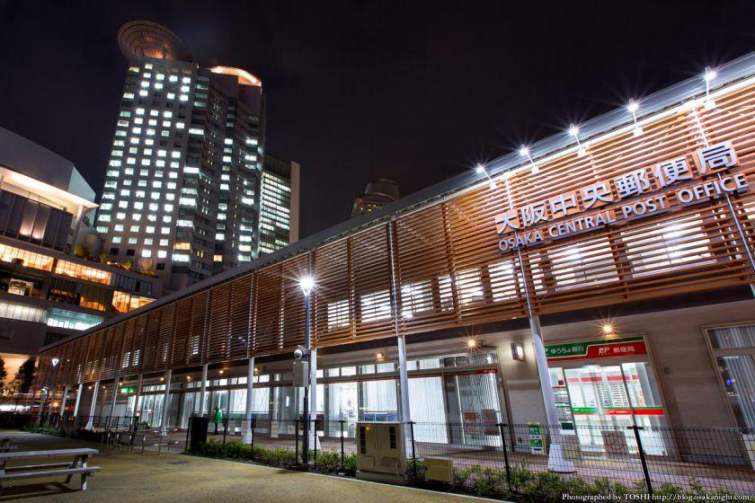 西梅田スクエア 夜景 03 大阪中央郵便局